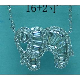63037ac8f0ff8 1915 Pingente De Elefante Com 7 Diamantes De Ouro Branco 18k - Joias ...