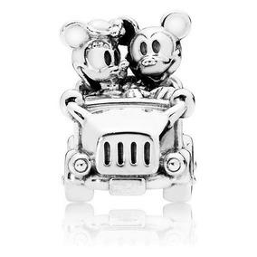 a5b5cdf45dc8 Berloque Charm Estilo Pandora Prata 925 Carro Mickey Minnie