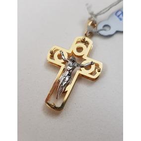 c9628e405d34e Crucifixo Masculino Ouro 18k - Cruz Jesus Cristo Ouro Branco