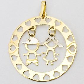 e65b3a54d3c44 Pingente Mandala De Ouro(18k 750) Com Nomes - Joias e Relógios no ...