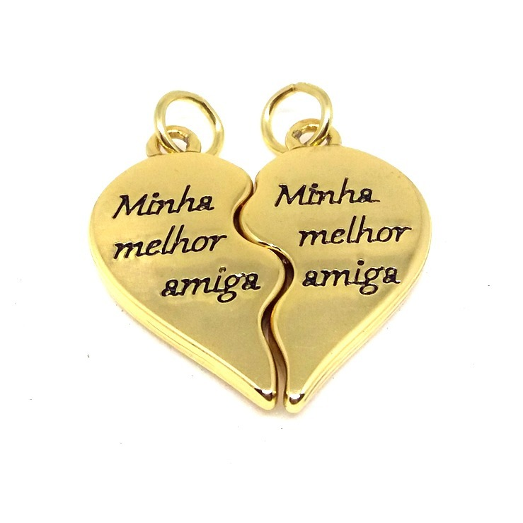 Pingentes Coração Mãe E Filha Presente Gravação Mensagem R 5650