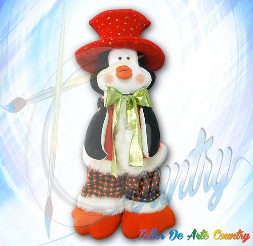 pinguino elegante muñecos country