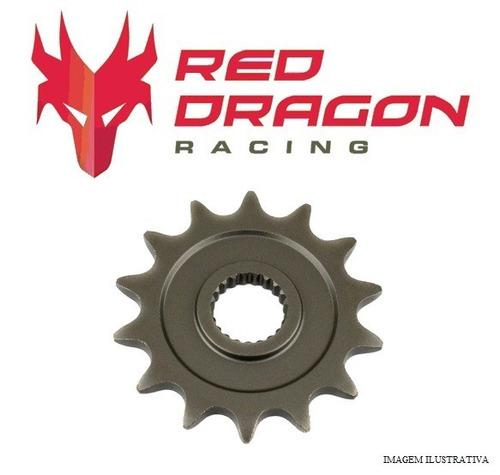 pinhão red dragon aço 1045 - honda cr 125 crf 250 - 14d