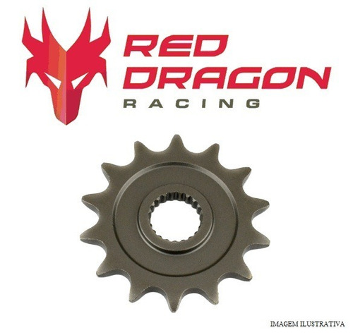 pinhão red dragon aço 1045 - yamaha yz- 13d