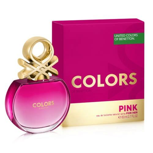 pink 80ml colors benetton - perfume original y sellado