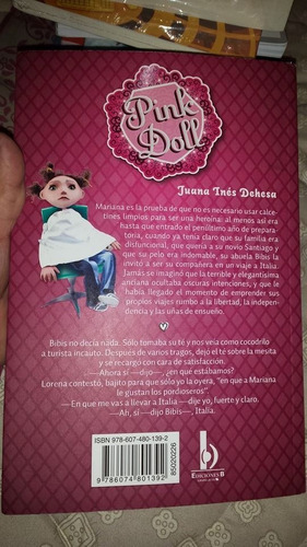 pink doll, juana ines  dehesa, usado original vbf