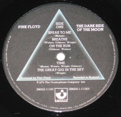 pink floyd - the dark side of the moon/ usa.re.1975 lp/ ex