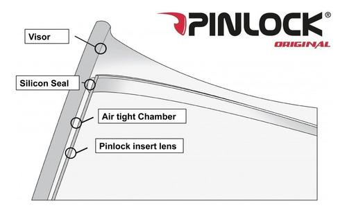 pinlock anti-embaçante capacete axxis v18 + refletivo