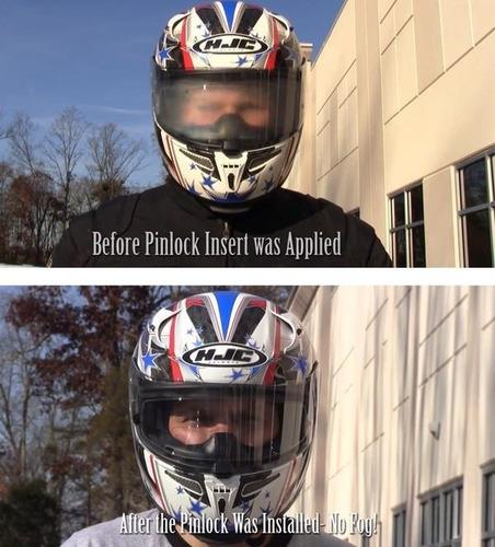 pinlock original capacete axxis draken v18 anti-embaçante