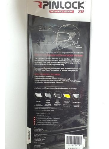 pinlock para capacete axxis, película anti embaçante