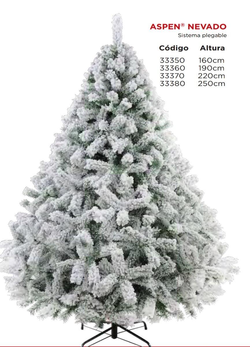Pino Arbol Navidad Artificial Nevado Aspen 1.60 Mts Naviplas ...