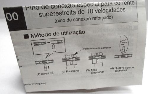 pino de emenda de corrente shimano 10 velocidades(kit 2 pçs)