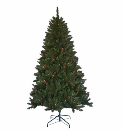 pino de navidad con luces y piñas integradas. importado!