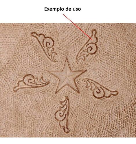 pino importado para bordar couro - craftool k153l - único
