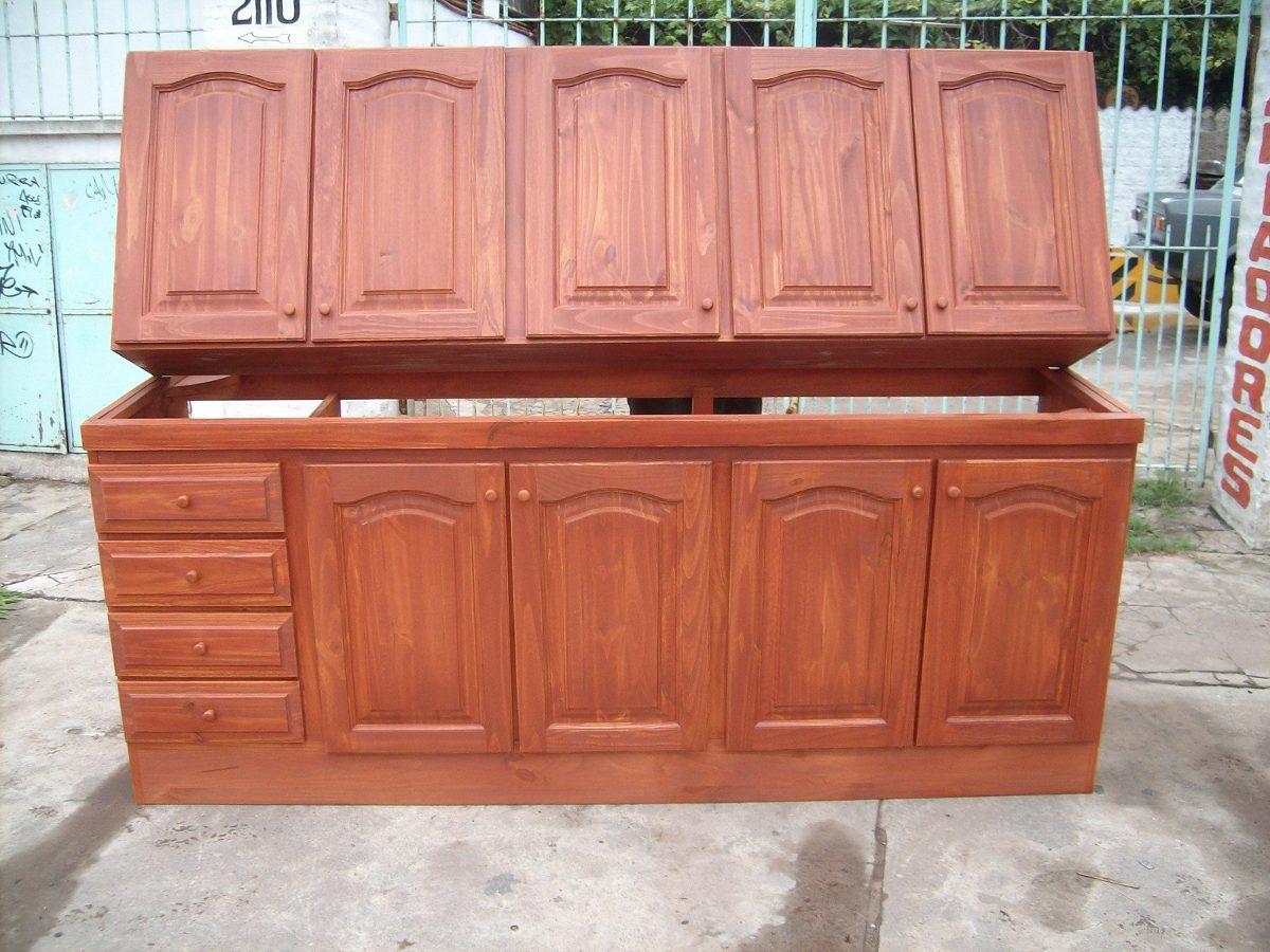 Muebles De Cocina De Pino Madera En Mercado Libre Argentina # Muebles De Cocina De Madera