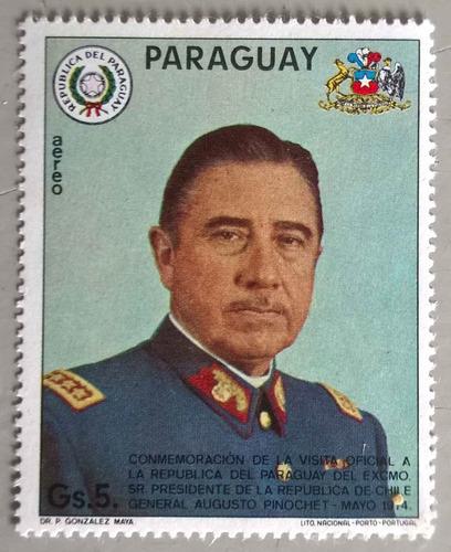 pinochet visita oficial a paraguay  gs. 5.- mint