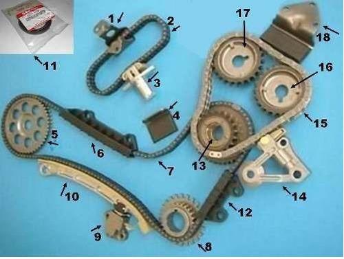 piñón 16 ó 17 de cadena de grand vitara xl5. 6 cil.