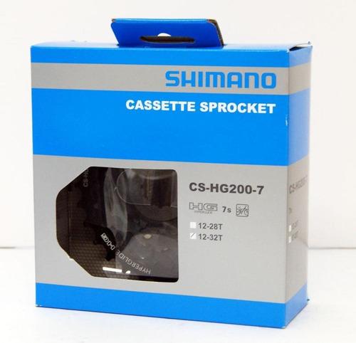 piñon cassette shimano hg200 7 vel 12-32