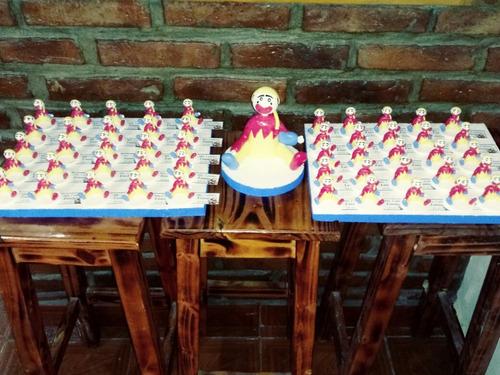 piñon fijo porcelana fria x 50 unidades+adorno de torta 15cm