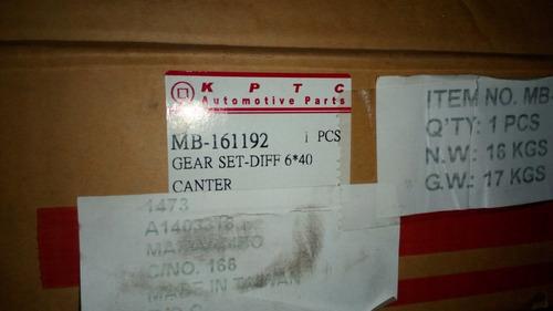 piñon y corona canter 444/649/659 (40x6) 230d