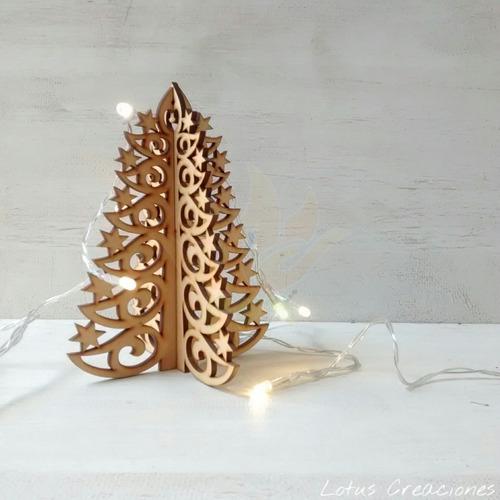 pinos 3d navidad -corte láser-