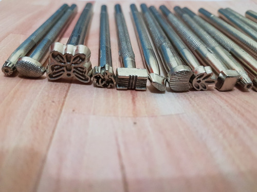 pinos estampar bordar couro 20 pçs artesanato molde