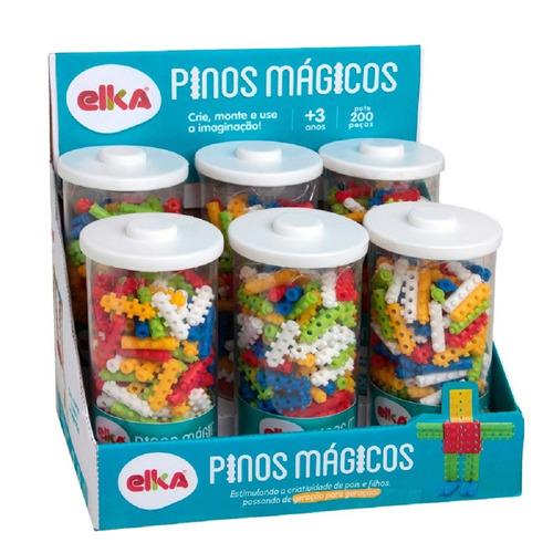 pinos mágicos pote com 200 peças - elka