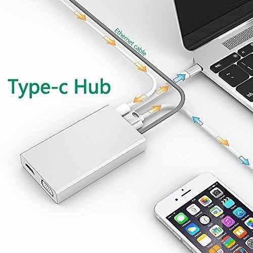 pinple type-c a adaptador ethernet de hdmi/vga/usb c hub usb
