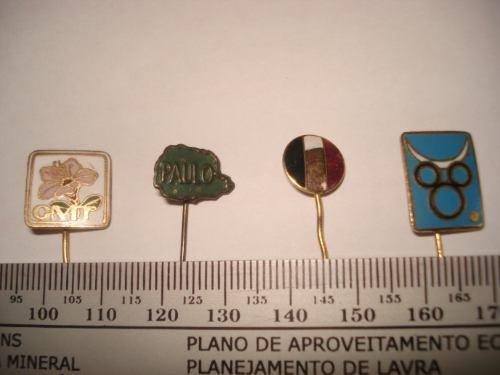 pins antigos(5)diversos:cmt, disney, bento, pluma e bandeira
