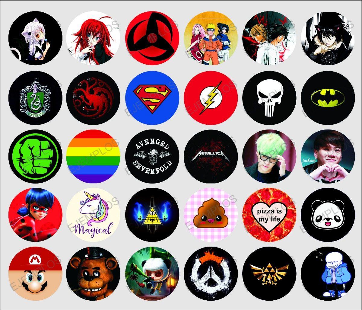 Pins Botones Anime Comics Musica Kawaii Juegos Y Mas 9 00