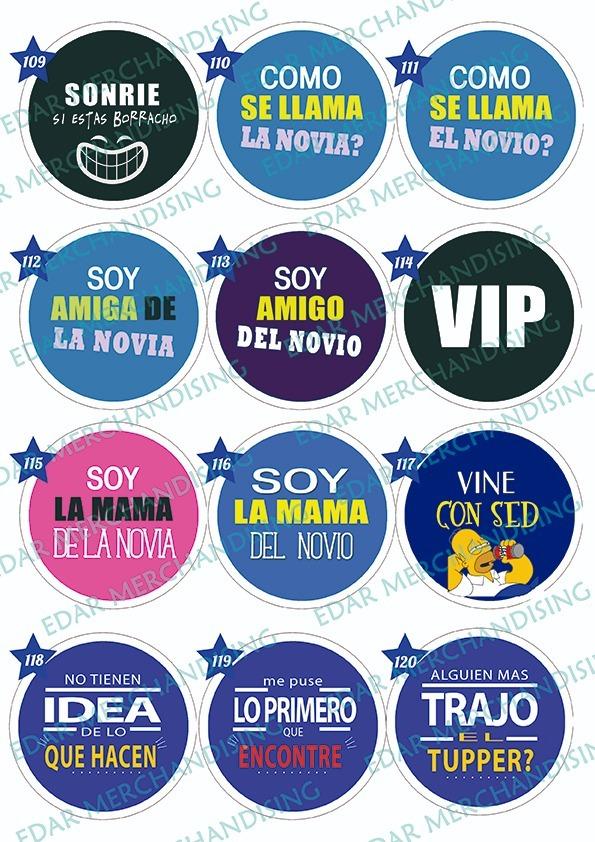 Pins Con Frases Para Fiestas 55 Mm X 100u