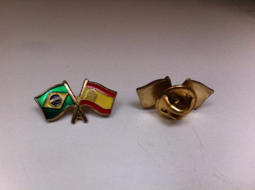 pins da bandeira do brasil x espanha