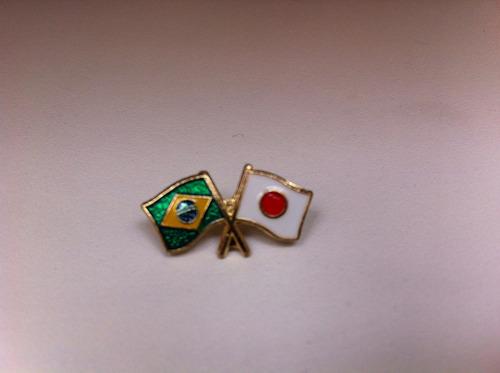 pins da bandeira do brasil x japão