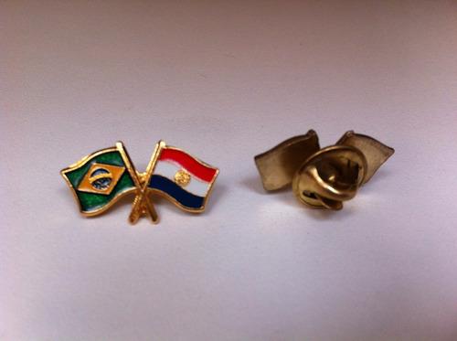 pins da bandeira do brasil x paraguai