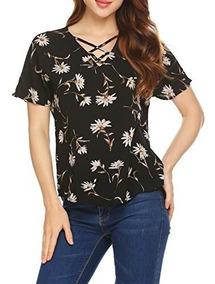 456c25373 Pinspark Para Mujer Camisa De Manga Corta Con Estampado Flor