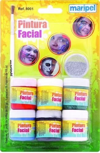 pinta cara - pintura facial liquida 6 cores - maripel