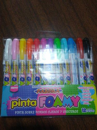 pinta foamy crayon especial papeleria merceria no toxico 5pz