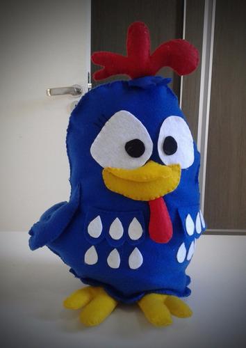 pintinho em feltro 30cm - turma da galinha pintadinha