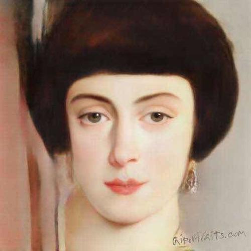 pinto retratos realistas estilo académico