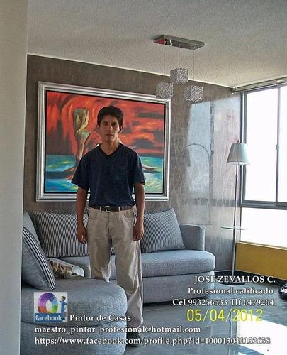 pintor de casas  maestro decorador 993256533 srv profesional