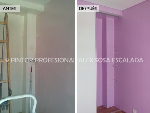 pintor profesional. servicios de pintura para casas, deptos