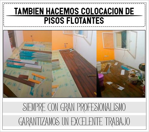 pintores, colocación de durlock, tarquini y piso flotante
