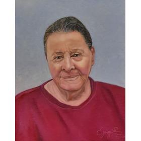 Pintura A Óleo Sobre Tela Retrato Baseado Em Fotografia