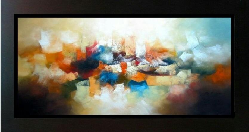 Pintura abstracta al oleo cuadros para sala hogar s for Donde puedo comprar cuadros decorativos