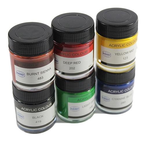 pintura acrílica 12 colores