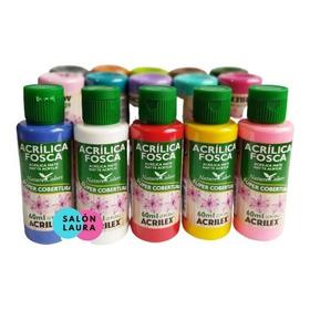 Pintura Acrílica Acrilex 60ml Pack De 12 Unidades