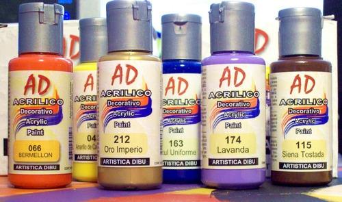 pintura acrilica ad 50 ml - acrilco decorativo