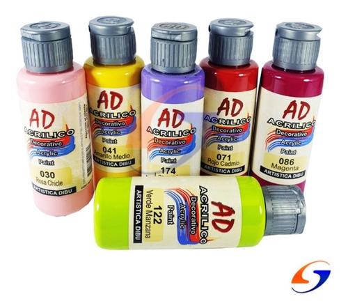 pintura acrilica ad 60ml. pack x2 colores serviciopapelero