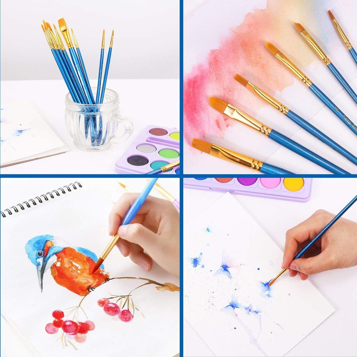 conjunto de acuarelas de pintura del cepillo de artista artesanías finas Modelo Stock De Acrílico 12 un