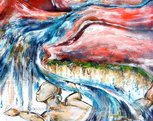 pintura acrílica figurativo surrealista